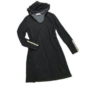 Able Hooded Dress Snap Embroidered Cuffs Cotton